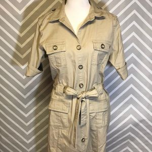 Eddie Bauer Khaki Denim Dress Size XL